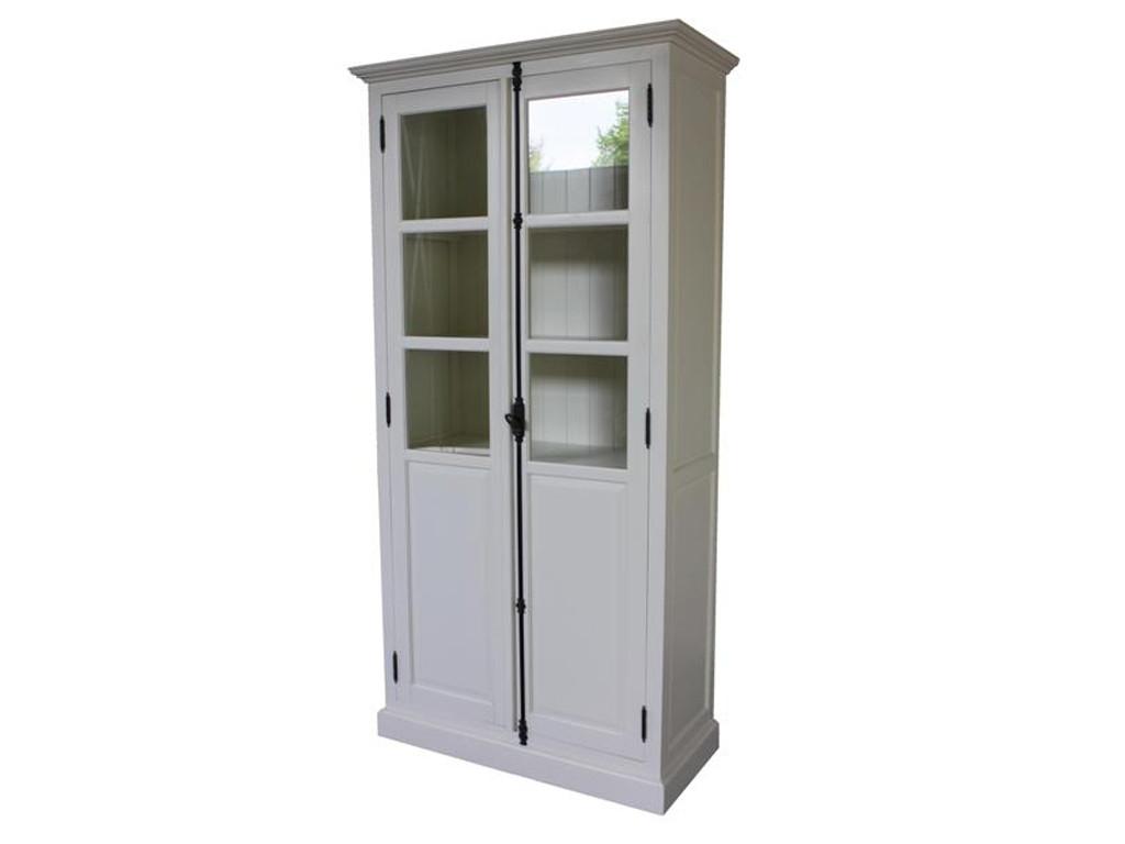 Biała witryna drewniana White Mango 1