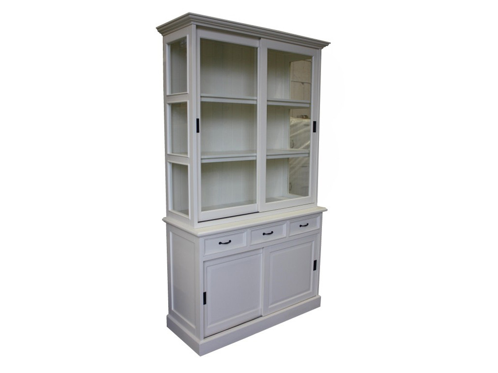 Biała witryna drewniana White Mango 5
