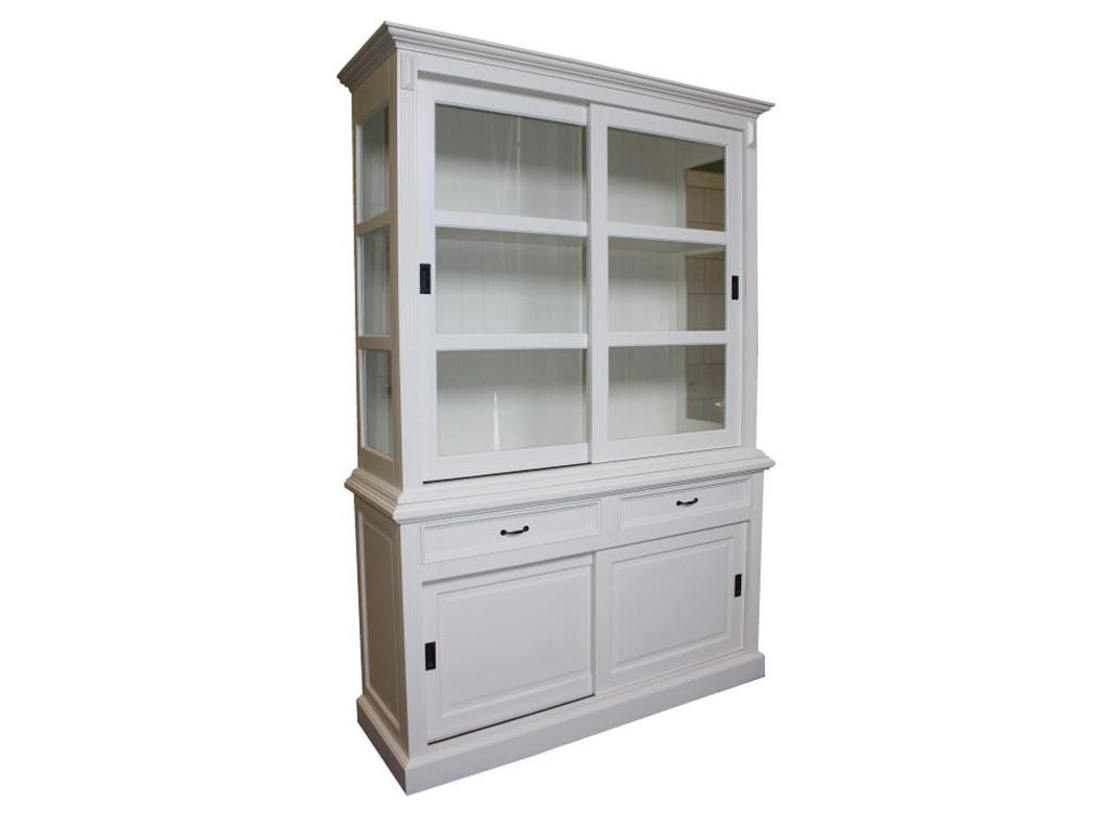Biała witryna drewniana White Mango 7