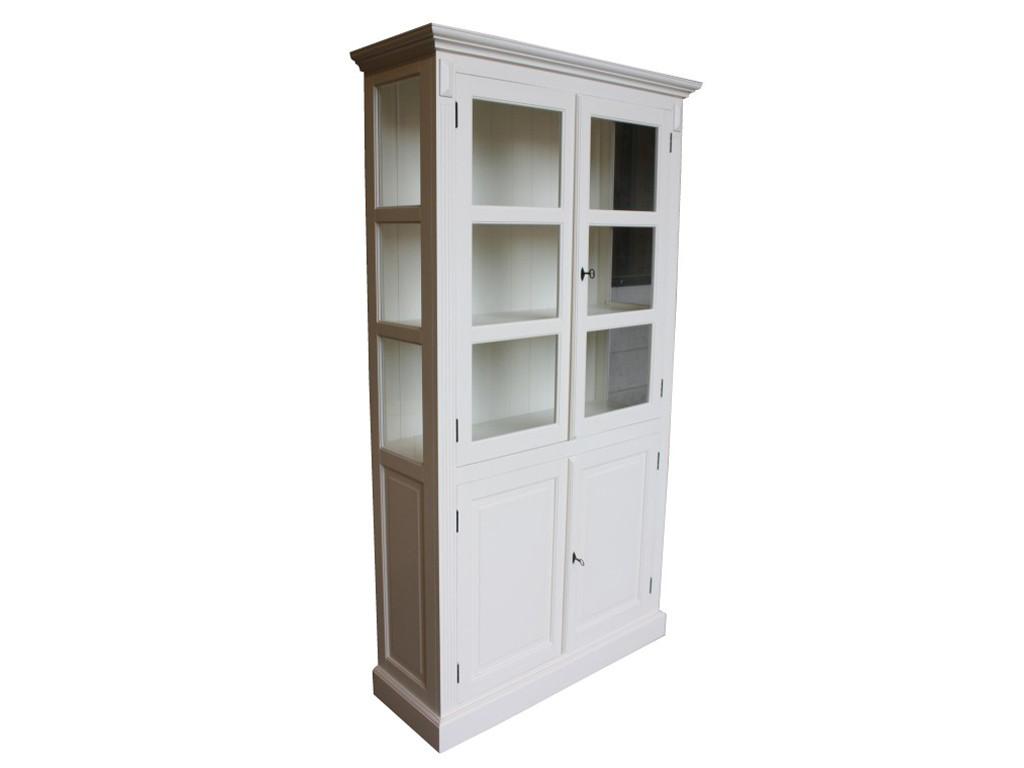 Biała witryna drewniana White Mango 9