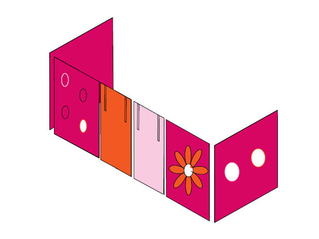 Zasłonki Maja MIX 114 - 90x200 Kwiaty