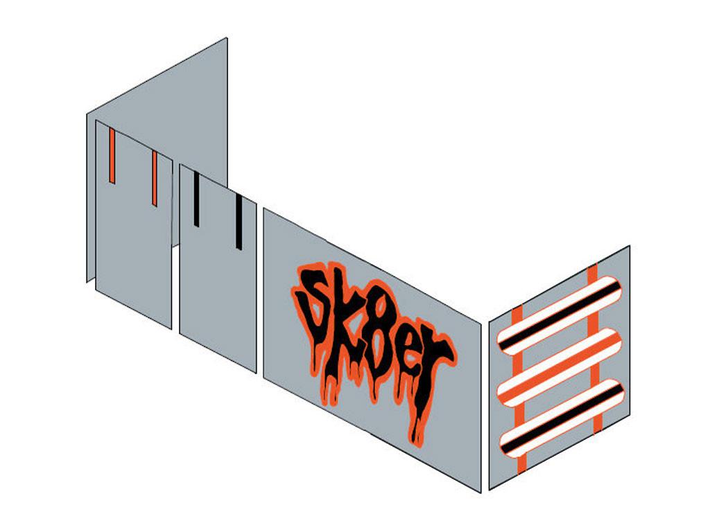Zasłonki Maja MIX 111 - 90x200 Skater