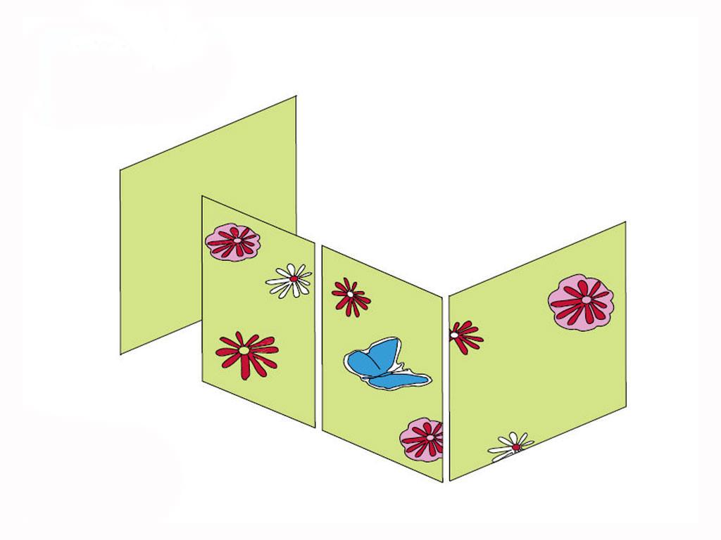 Zasłonki Maja MIX 112 - 70x160 Motylek