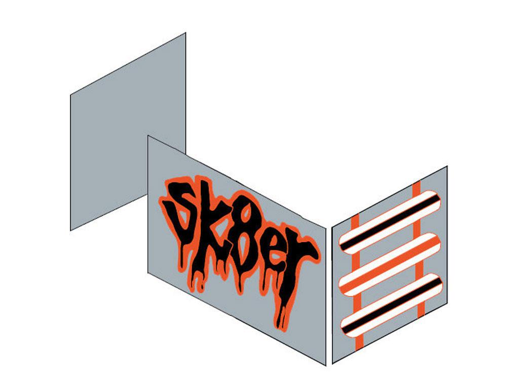 Zasłonki Maja MIX 112 - 70x160 Skater