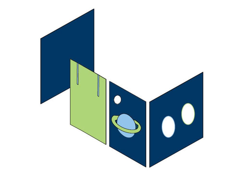 Zasłonki Maja MIX 112 - 70x160 Astronauta