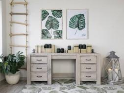 biurko drewniane rustykalne