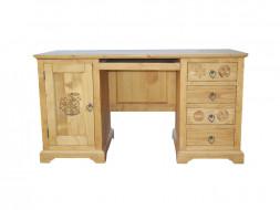 Biurko drewniane z rzeźbionymi frontami Jagna 1