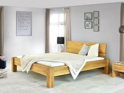 dębowe łózko drewniane