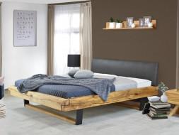 dębowe łózko drewniane do salonu