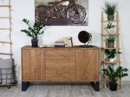 komoda drewniana dębowa
