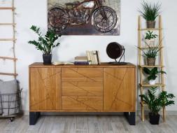 komoda drewniana debowa