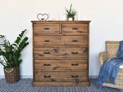 komoda drewniana z szufladami