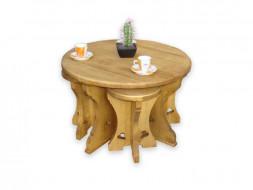 Komplet kawowy drewniany Mexicana 1