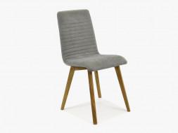 krzesło drewniane tapicerowane do salonu