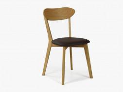krzesło drewniane skórzane