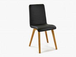 krzesło tapicerowane skórzane do jadalni