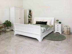 łóżko drewniane białe