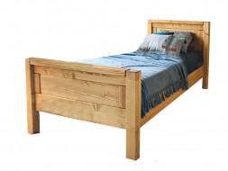 drewniane łózko do sypialni 140x200