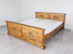 Łóżko rzeźbione Jagna 180x200 - WYPRZEDAŻ