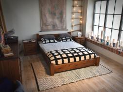 łóżka z litego drewna