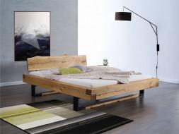 Łóżko dębowe w industrialnym stylu