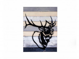 obraz metalowy 3d jeleń