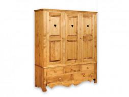 Drewniany szafa trzydrzwiowa Mexicana 3