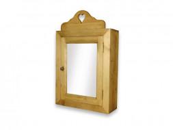 Szafka wisząca drewniana z lustrem Mexicana 3