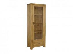 jednodrzwiowa witryna drewniana