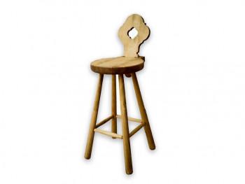 Krzesło barowe z drewna świerkowego Mexicana 1