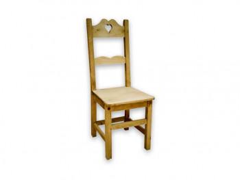 Krzesło z drewna świerkowego Mexicana 1