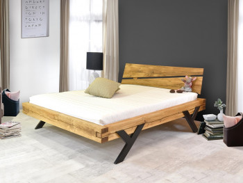 Łóżko dębowe do sypialni