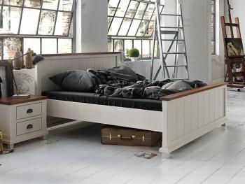 Łóżko z dębowym wieńcem Anse 160