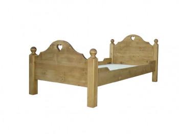 Łóżko z drewna świerkowego Mexicana 1 90x190