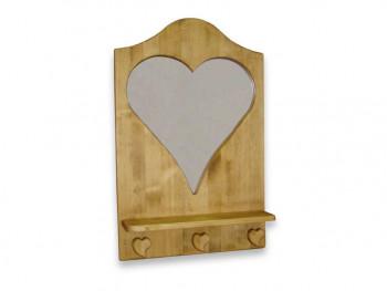 Panel wieszakowy z lusterem z drewna świerkowego Mexicana 1