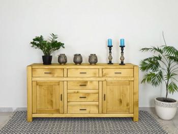 szeroka komoda drewniana