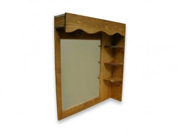 Półka wisząca z lustrem z drewna świerkowego Mexicana 1