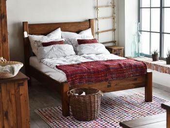 rustyklane łóżko sosnowe