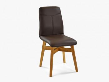 skórzane krzesło tapicerowane dębowe nogi