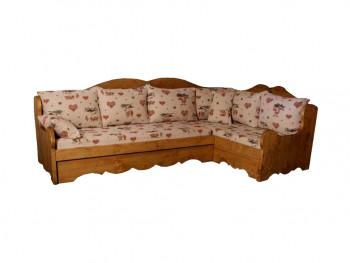 Sofa narożna z drewna świerkowego Mexicana 3
