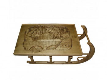 Stolik sanie z rzeźbionym blatem Jagna 1