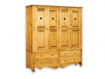 Drewniana szafa czterodrzwiowa Mexicana 4