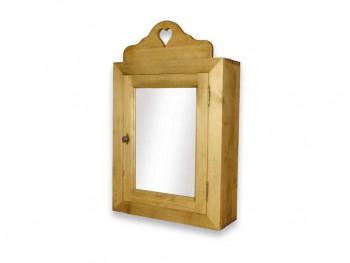 Szafka wisząca z lustrem z drewna świerkowego Mexicana 3