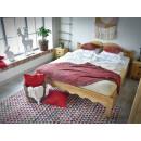 Łóżko z drewna świerkowego 140x200