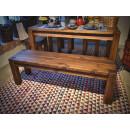 ławka z litego drewna