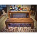 ławka sosnowa ze stołem