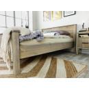 aranzacja łóżko drewniane