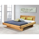 dębowe łóżko drewniane