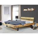 dębowe łózko drewniane do sypialni