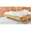 dębowe łóżko drewniane front